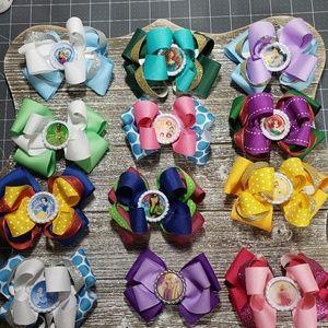 Other - 12 Disney Princesses Bows